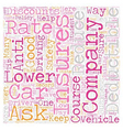 Lower Your Car Insurance Rate text background vector image vector image