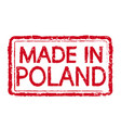 made in poland stamp text vector image vector image