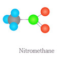 nitromethane 3d molecule chemical science vector image vector image