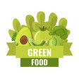 organic food banner green food concept vector image