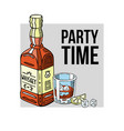 party time banner bottle of vector image