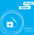 patch icon on a blue background with abstract vector image vector image