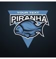 Piranha emblem logo for a sports team vector image vector image