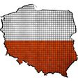 Poland map with flag inside vector image