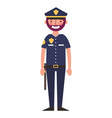 police man in uniform character vector image