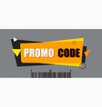 promo code coupon code flat set design on white vector image