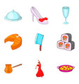 regale icons set cartoon style vector image vector image