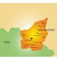 San Marino map vector image vector image