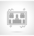 Scoreboard flat line icon vector image vector image