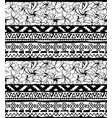 seamless geometric pattern ethnic aztec tropical vector image