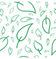 seamless leaf curve background drawing doodle vector image