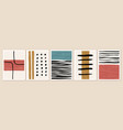 set backgrounds with abstract geometric shapes vector image