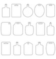 set of contours of cutting boards vector image vector image