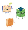 set of funny characters from books vector image vector image