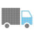 shipment van halftone icon vector image