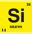 silicon si chemical element vector image vector image