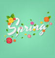 spring poster with text vector image vector image