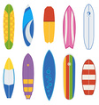 Surfboard Collection vector image vector image