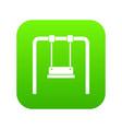 swing icon digital green vector image