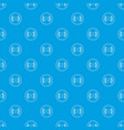 vinyl record pattern seamless blue vector image