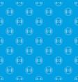 vinyl record pattern seamless blue vector image vector image