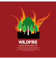 Wildfire vector image vector image