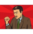 Angry man pop art style vector image
