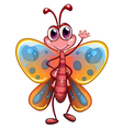 A colorful butterfly waving vector image vector image