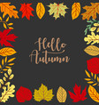autumn background tree paper leaves yellow vector image