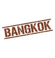 Bangkok brown square stamp vector image vector image