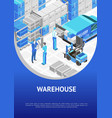 banner with modern warehouse design vector image