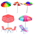 Beach Umbrellas vector image