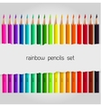 Big color pencil set vector image