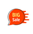 big sale red thin line bubble label vector image vector image
