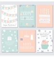Birthday greeting and invitation card vector image