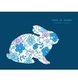 blue and pink kimono blossoms bunny rabbit vector image