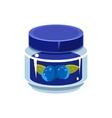 Blueberry Jam In Transparent Jar vector image