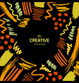 brushes-yellow-creative-black vector image