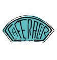 cafe racer text lettering vector image vector image