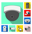 cctv and camera sign vector image