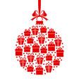 christmas gifts ball vector image vector image