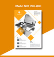 creative orange corporate flyer template vector image vector image