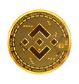 crypto currency binance golden symbol isolated on vector image