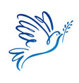 dove of peace icon flying bird peace concept vector image vector image