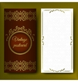 Elegant pattern luxurious card with lace