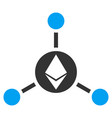 ethereum connections flat icon vector image vector image