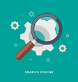 Flat design business concept Search Engine vector image