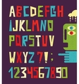 Funny alphabet letters with numbers vector image vector image