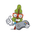 gamer chard mascot cartoon style vector image