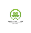 green frog symbols logo and template vector image vector image